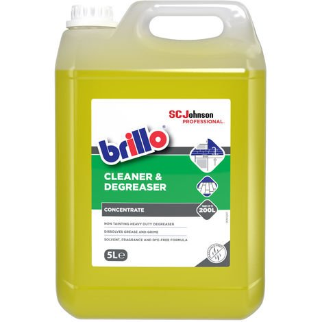 Brillo 5L Kitchen Cleaner and Degreaser cupboards floors walls equipment