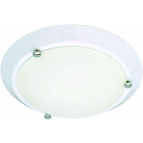 Briloner Leuchten 2118-016 - Plafoniera da bagno AGL, 1 x E27, IP23, colore: Bianco