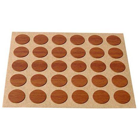 BRINOX–Enjoliveur cubre-tornillos adhésif, marron, B77900O