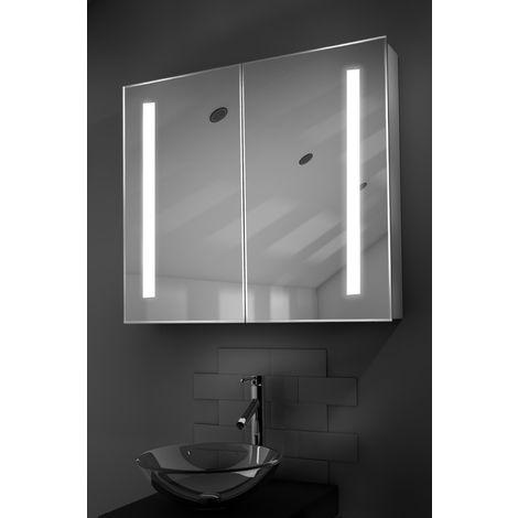 Briony LED Bathroom Cabinet with Demister Pad, Sensor & Shaver k366