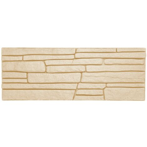 brique de parement | EPS | résistant à la pression | beige | Marbet | 48x18cm | jupe