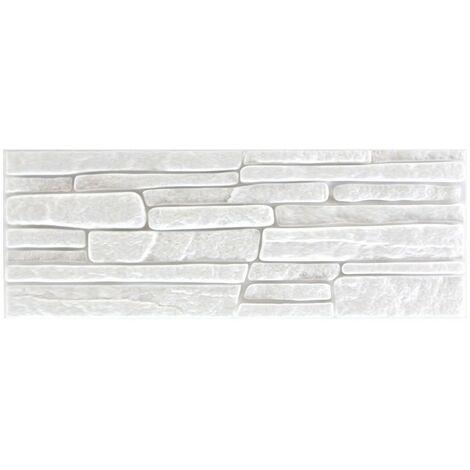brique de parement | EPS | résistant à la pression | blanc | Marbet | 48x18cm | jupe