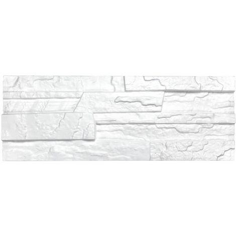 brique de parement | EPS | résistant à la pression | blanc | Marbet | 48x18cm | pierre