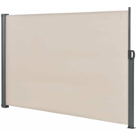 Brise-soleil auvent baldaquin garde-vue pare-soleil métal et polyester 160 x 300 cm beige - Beige