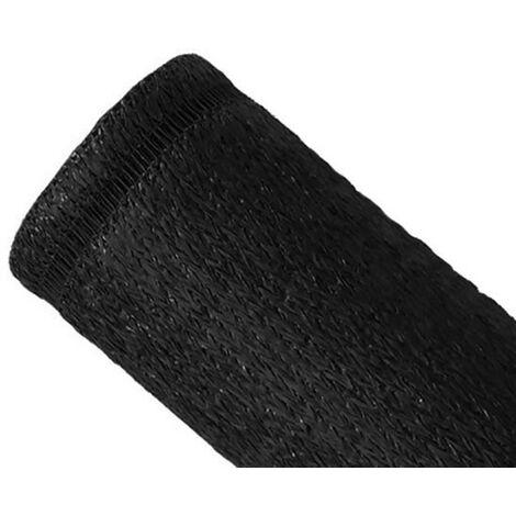 Brise-vue 100% - Noir - 230gr/m² - Boutonnières 1.5m x 5m