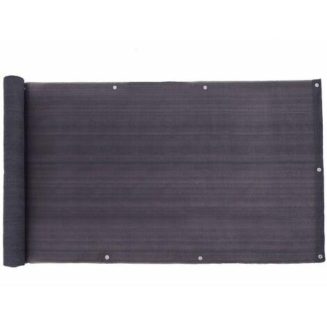 Brise-Vue, 75/90cm x 600cm, Paravent, Auvent en Tissu HDPE sans Vis, Couverture perméable pour Balcon, Cordon d'Attache