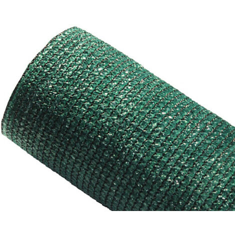 Brise-vue 80% - Vert/Noir - 95g/m² - Sans Boutonnières Vert/Noir 1m x 10m - Vert/Noir