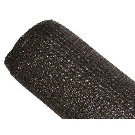 Brise-vue 85% - Marron/Noir - 130gr/m² - Sans Boutonnières Marron/Noir 1m x 5m - Marron/Noir