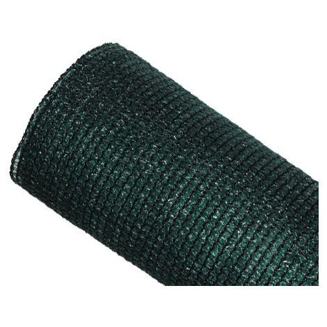 Brise-vue 85% - Vert/Noir - 130g/m² - Sans Boutonnières Vert/Noir 1m x 10m - Vert/Noir
