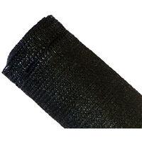 Brise-vue 90% - Noir - 185g/m² - Boutonnières Noir 1.8m x 10m