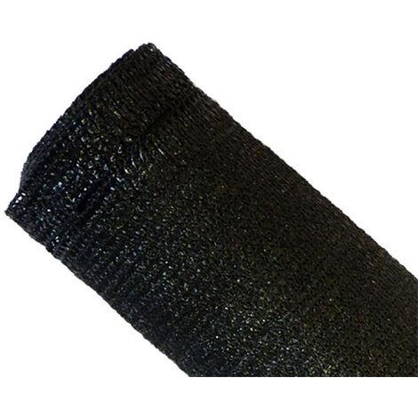 Brise-vue 90% - Noir - 185g/m² - Boutonnières Noir 1.8m x 10m - Noir
