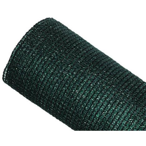 Brise-vue 90% - Vert/noir - 185g/m² - Sans boutonnières Vert/Noir 1.2m x 10m - Vert/Noir