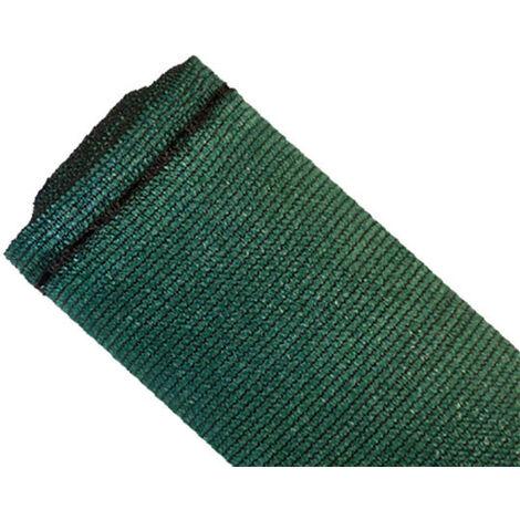 Brise-vue 90% - Vert/noir - 185gr/m² - Grande dimension - Boutonnières Vert/Noir 2m x 50m - Vert/Noir