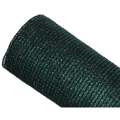 Brise-vue 90% - Vert/noir - 185gr/m² - Sans boutonnières Vert/Noir 1.5m x 10m - Vert/Noir