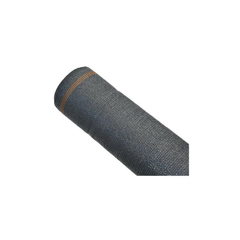 Brise-vue anthracite 240 g/m² - 95% d'occultation, Long 25 m, Hauteur 1 m