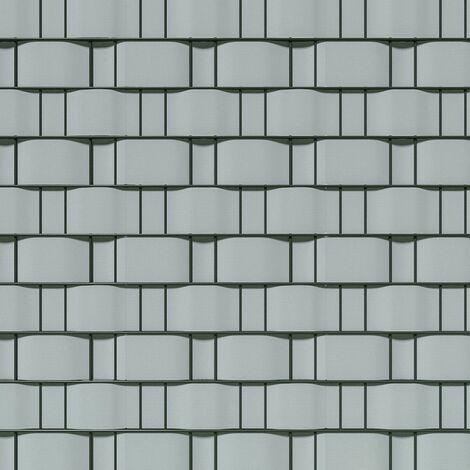 Brise vue brise vent film anti regards clôture paravent PVC gris clair 35 m - Gris