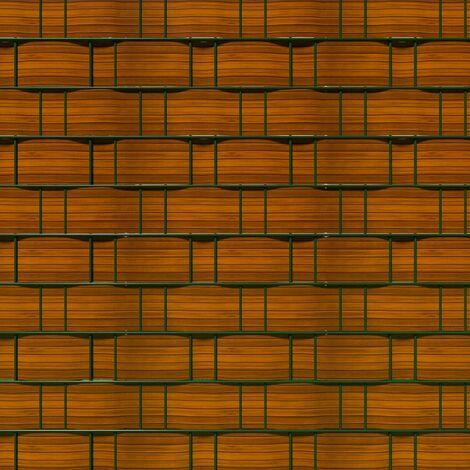 Brise vue brise vent film anti regards clôture paravent PVC imprimé bois 70 m - Bois