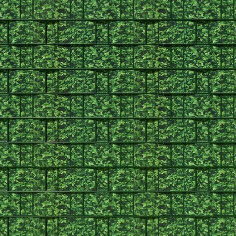 Brise vue brise vent film anti regards clôture paravent PVC imprimé buis 70 m vert - Vert