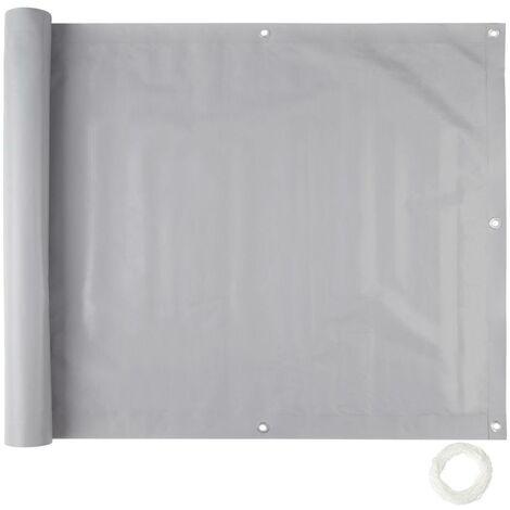 Brise vue brise vent film anti regards clôture paravent PVC pour balcon gris 75 cm - Gris