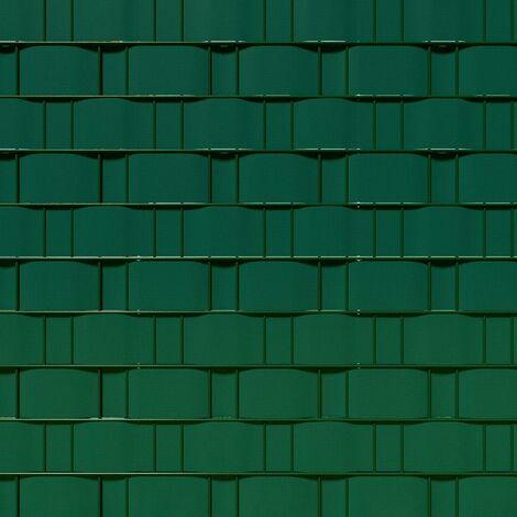 Brise vue brise vent film anti regards clôture paravent PVC vert 35 m - Vert