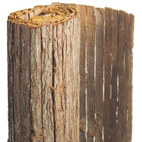 Brise vue en écorces de pin naturel - 1 rouleaux de 1 x 5 m - Jardideco