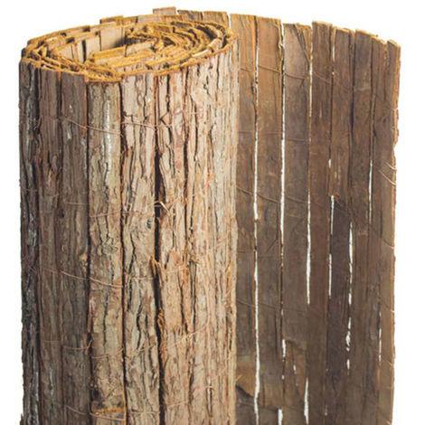 Brise vue en écorces de pin naturel - 6 rouleaux de 1 x 5 m - Jardideco