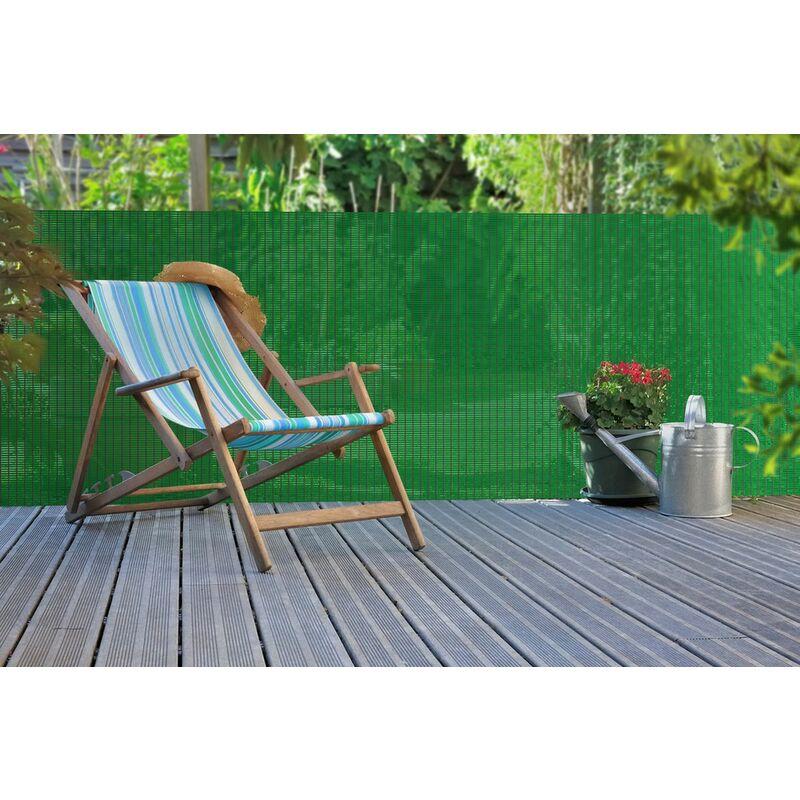 Brise-vue extrudé d'inspiration naturelle 'Panama' Vert - 1,20 x 5 m
