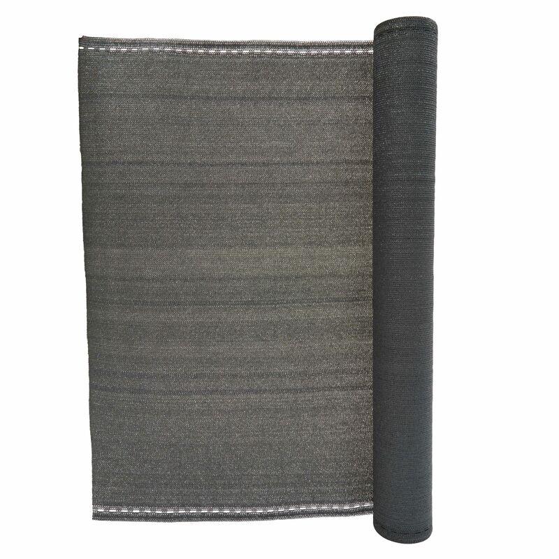 Brise vue 230 g/m² gris Onca - 1 x 10 mètres - OVIALA