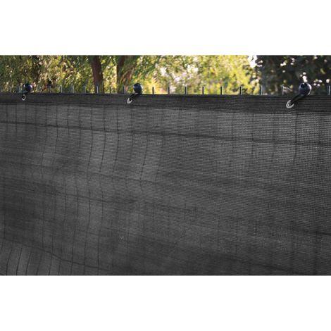 Brise vue gris - 1x5 m - 230 grs/m² - occultation 96%