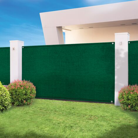 Brise vue haute densité vert 1 x 10 m 300 gr/m² qualité pro