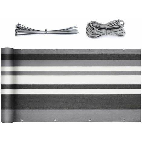 Brise-Vue pour Balcon Couverture de confidentialité Écran HDPE Vent Protection UV Opaque Résistant aux Intempéries