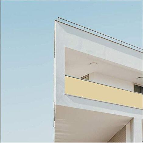 Brise-Vue pour Balcon Couverture de confidentialité Écran Polyster Vent Protection UV Opaque Résistant aux Intempéries