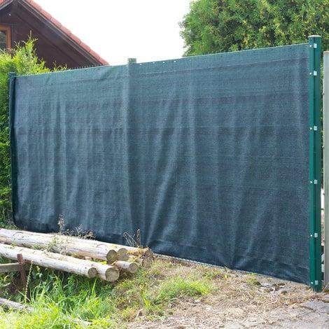 Brise vue pour clôture 2 x 25 m de couleur verte