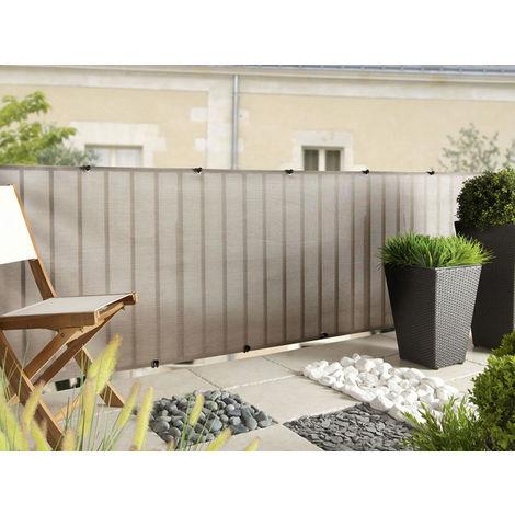 Brise vue pour clôture Everly en rouleau 1.50 x 5 m Gris Nortene