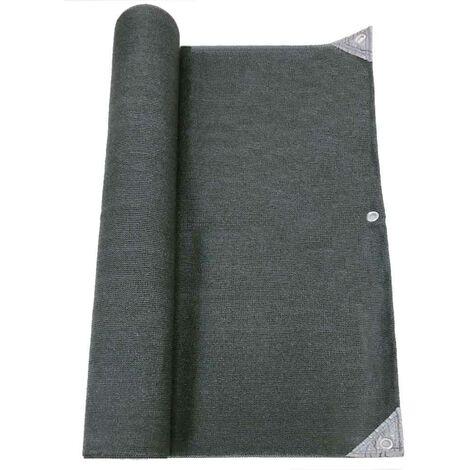 Brise vue pro renforcé gris en 5x10 m 300gr 1.5x10 m