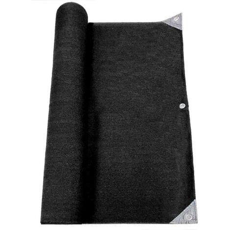 Brise vue pro renforcé noir en HDPE haute densité 300gr 1x5 m