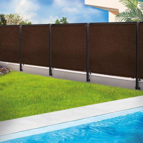Brise vue renforcé 1 x 10 m marron 220 gr/m² luxe pro
