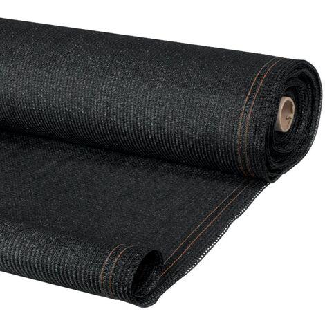 Brise vue renforcé 1 x 10 M noir 220 gr/m² luxe pro