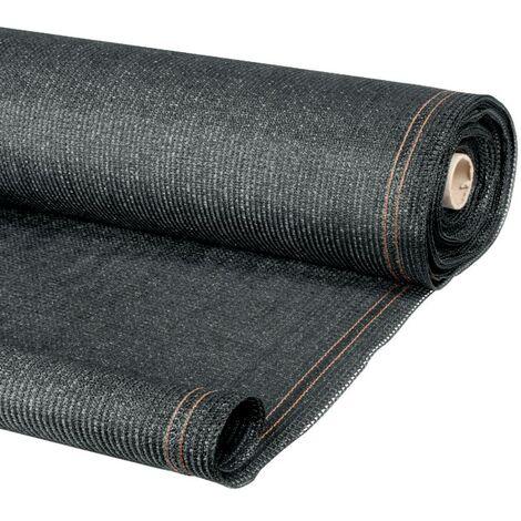 brise vue renforc 1 5 x 10 m gris 220 gr m luxe pro 12468. Black Bedroom Furniture Sets. Home Design Ideas