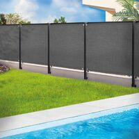 Brise vue renforcé 1,5 x 10 m gris 220 gr/m² luxe pro