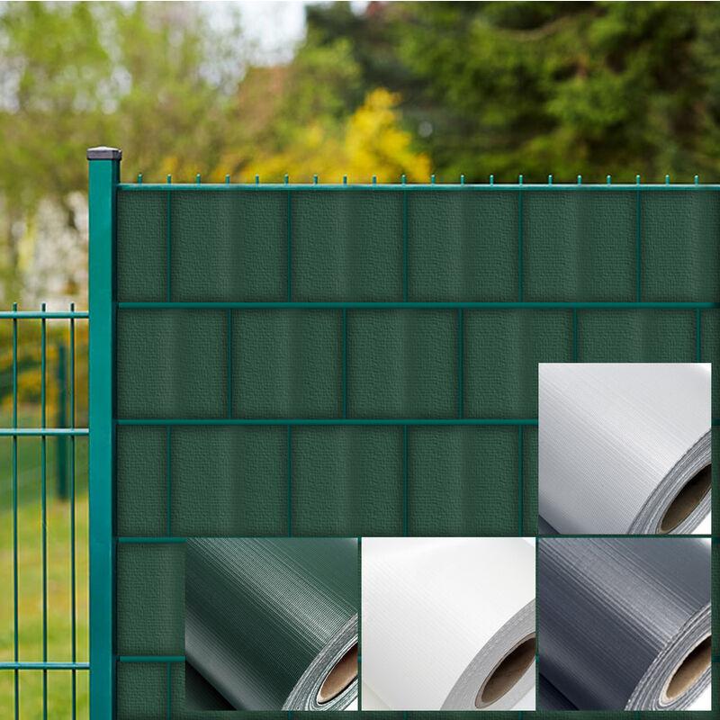 Brise-vue Rouleau gris, 35mx19cm PVC 450g/m², avec 20 clips,Protection  visuelle Jardin