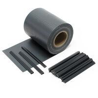 Brise-vue Rouleau noir, 35mx19cm PVC 450g/m², avec 20 clips,Protection visuelle Jardin