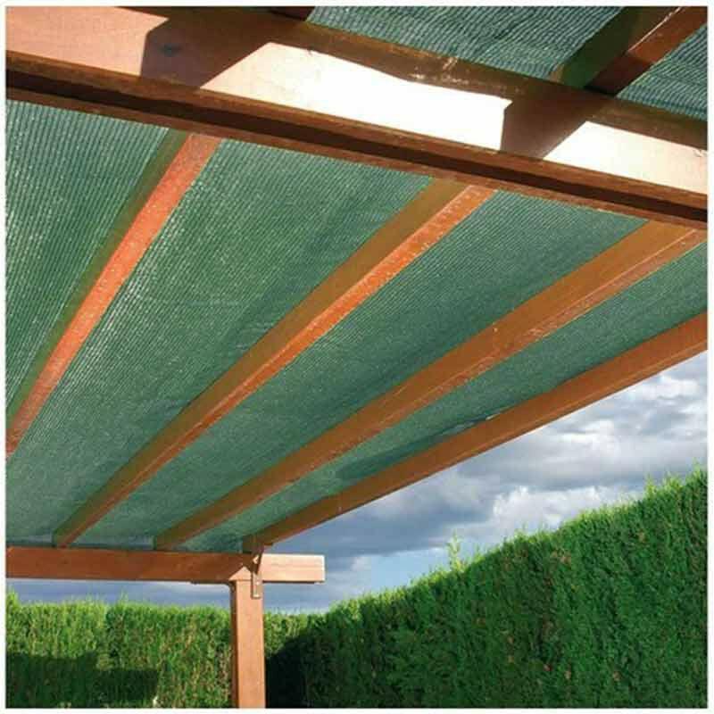 Brise-vue vert foncé 240 g/m² - 95% d'occultation, Long 10 m, Hauteur 1 m