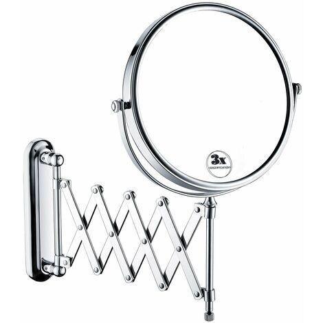 Bristan 8 Inch Extending Shaving Mirror - Chrome