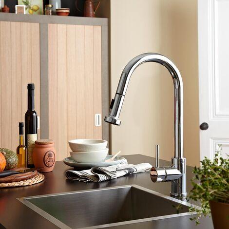Bristan Apricot Mono Kitchen Sink Mixer Tap, Pull-Out Spray, Chrome