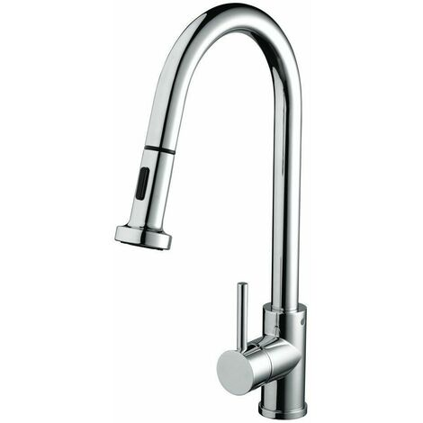 Bristan Apricot Monobloc Kitchen Mixer Tap Single Lever Modern Pull-Out Chrome