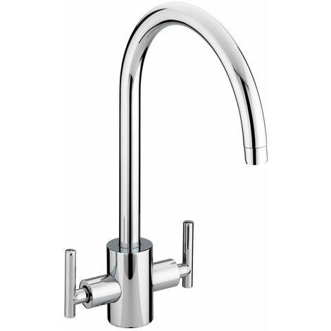 Bristan Aristan Kitchen Sink Mixer Tap Double Lever Modern EasyFit Chrome