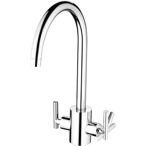 Bristan Artisan Filter Mono Kitchen Sink Mixer Tap Dual Handle - Chrome