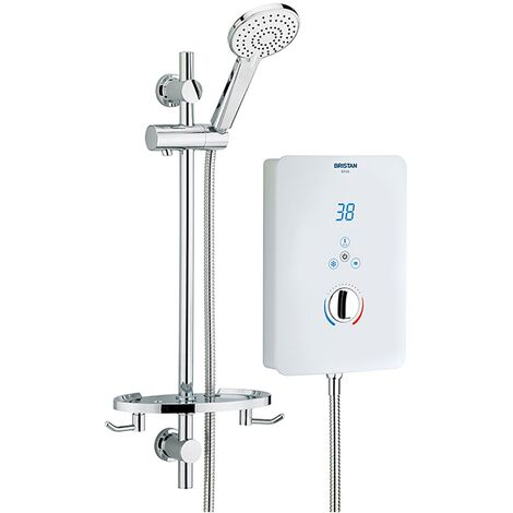 Bristan Bliss Electric Shower, 9.5kw, White
