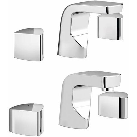 Bristan Bright Basin Mixer Tap and Bath Filler Tap, Chrome